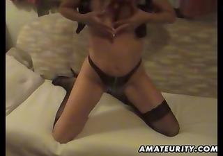 mature amateur wife sucks and fucks with spunk
