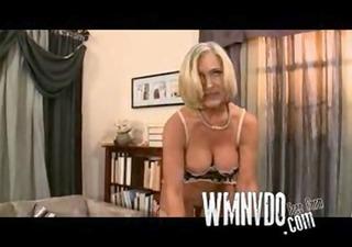 blonde granny parties alone, blonde granny mature