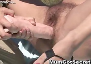 Horny MILF gets her hairy muf fucked part2