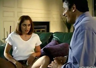 Daughter Seduced Old Dad in Absence of Mom